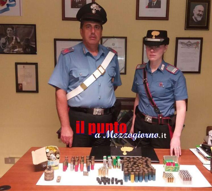 A caccia di possibili bracconieri, sequestrati munizioni e bombe carta