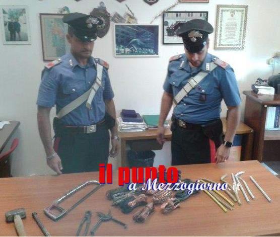 Tenta il colpo in azienda a Veroli, 67enne trovato in possesso della refurtiva anche di altri furti