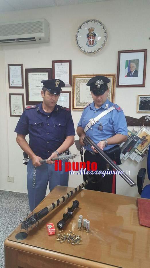 Villa Santa Lucia –Altre armi a casa del rapinatore arrestato ieri. Denunciata la madre