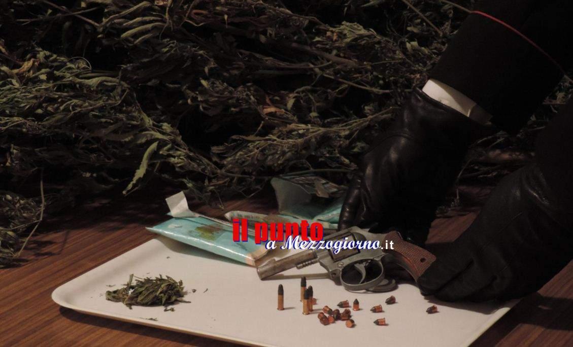 Pistola illegale e marijuana detenuta in casa, arrestato 55enne a Ceccano