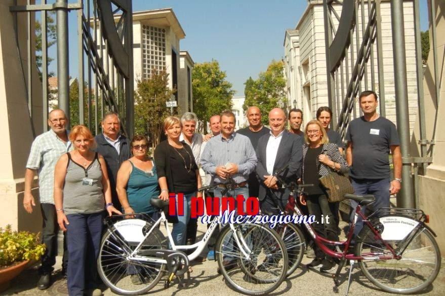 Dipendenti ciclisti al cimitero di Frosinone, donate due biciclette