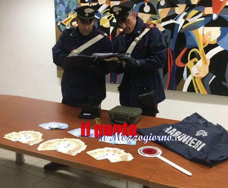 Commerciante ambulante con banconote false, i carabinieri gli sequestrano 17mila euro e lo arrestano