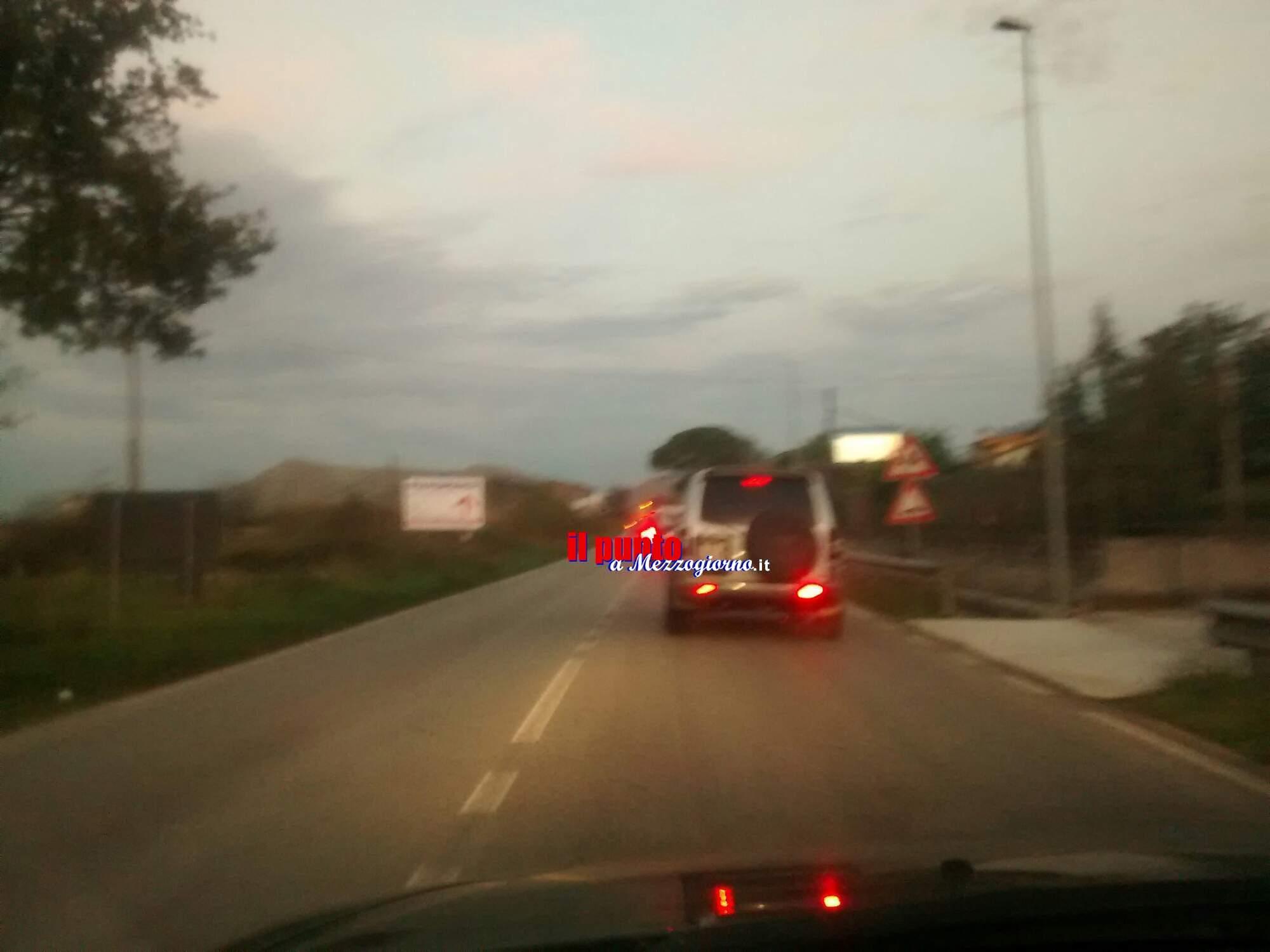 Incidente stradale sulla Casilina tra San Vittore del Lazio e San Pietro Infine