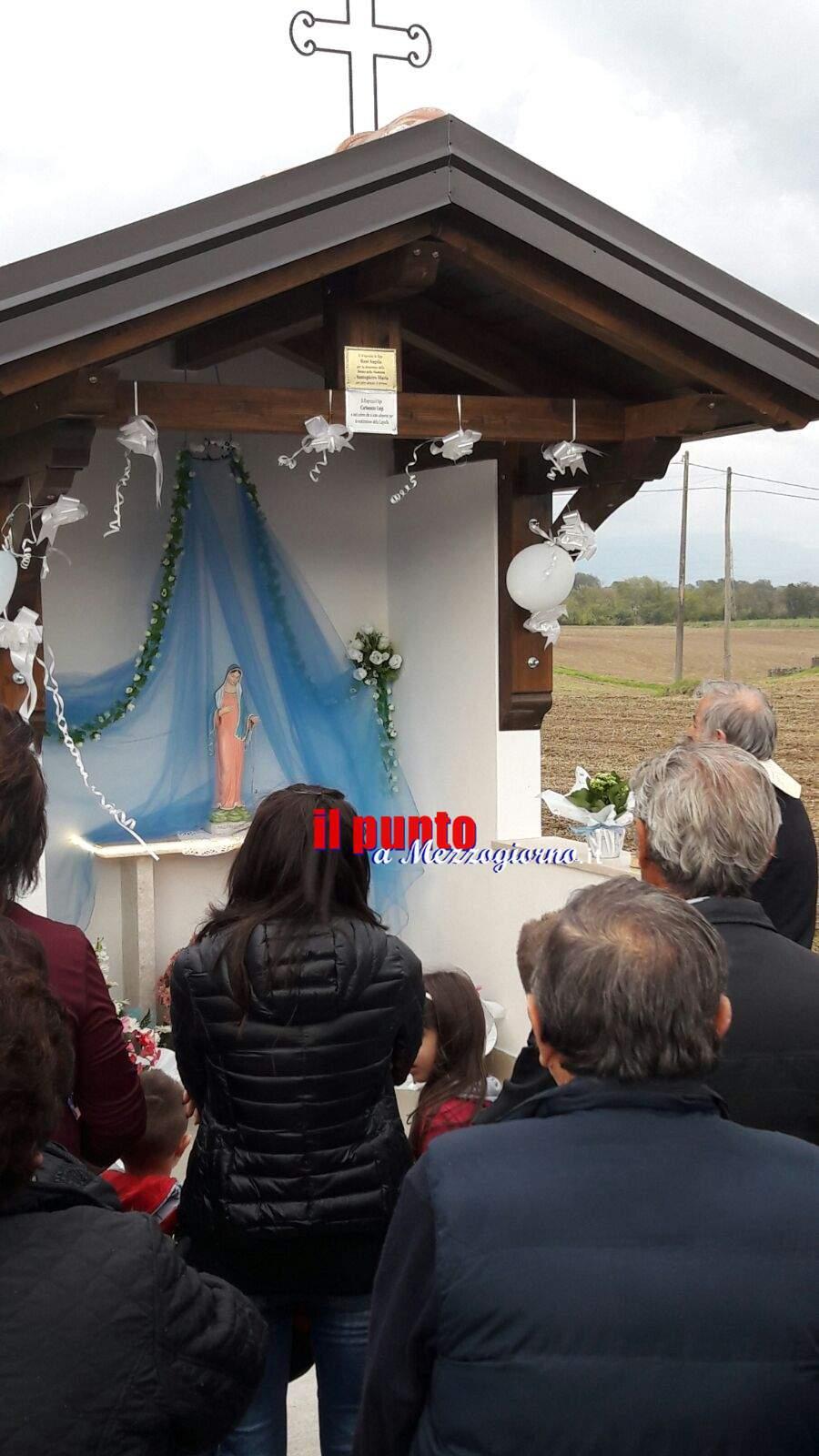 Pignataro Interamna- Cerimonia di inaugurazione della Cappella in onore della Madonna