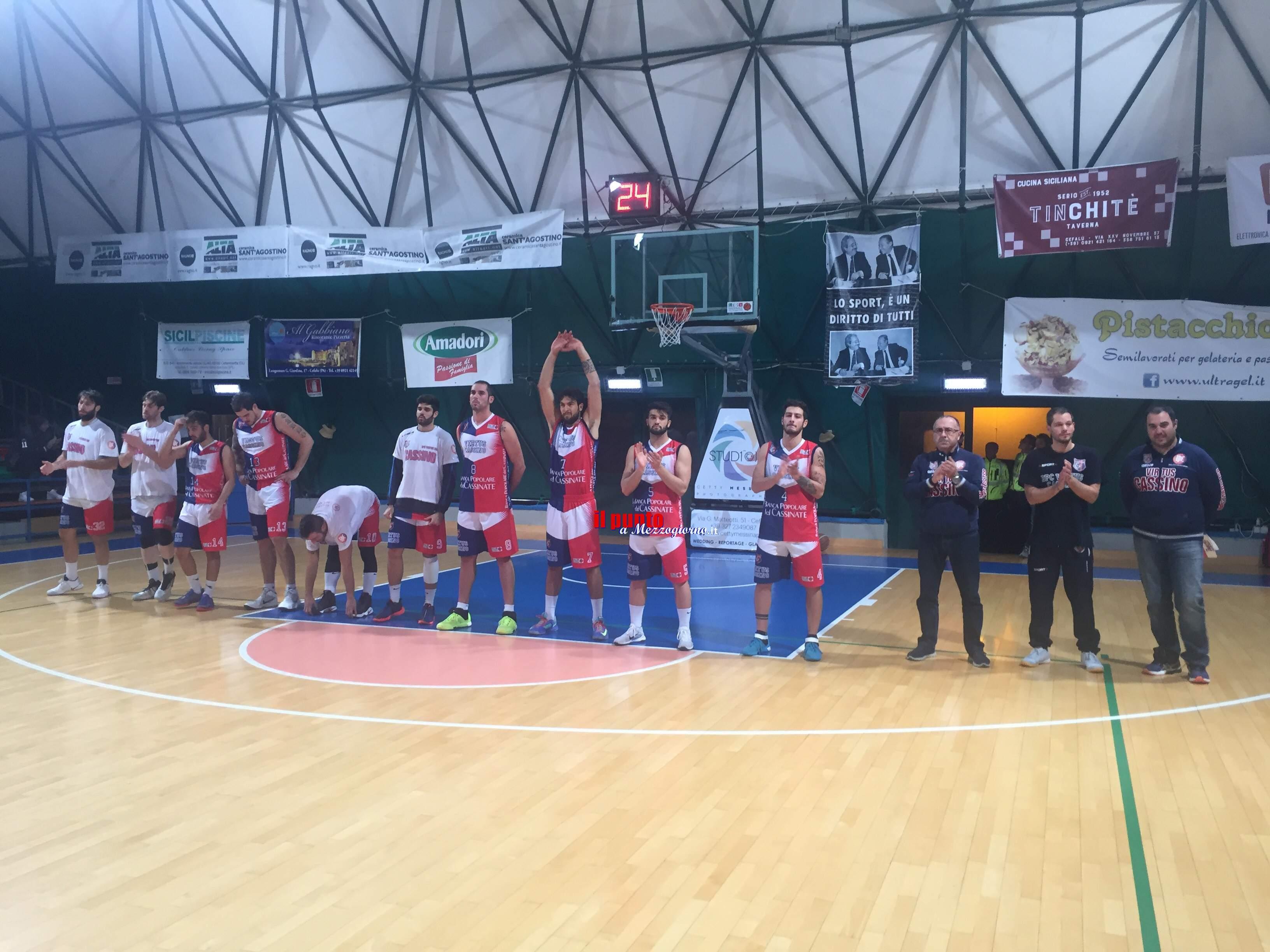 Basket serie B: Una super Virtus Cassino espugna Cefalù