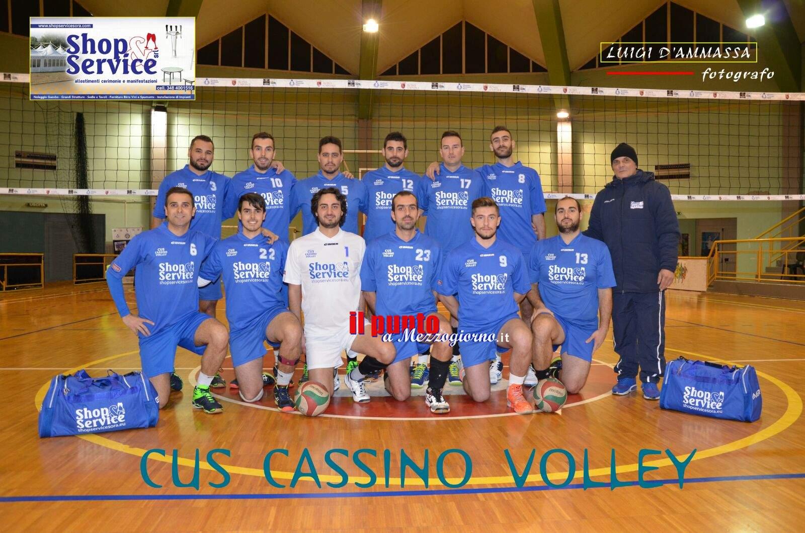 Volley maschile serie D: Cus-Cassino da urlo, battuto il tabù Albano e accorciato il distacco dalla vetta