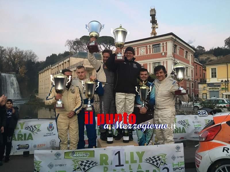 Rally della Ciociaria: De Santis si conferma campione di razza sul podio Giannetti e Cannavò