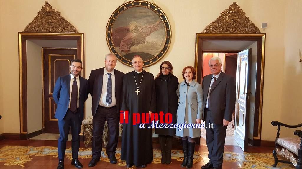 L'amministrazione D'Alessandro incontra l'Abate di Montecassino per gli auguri di Natale