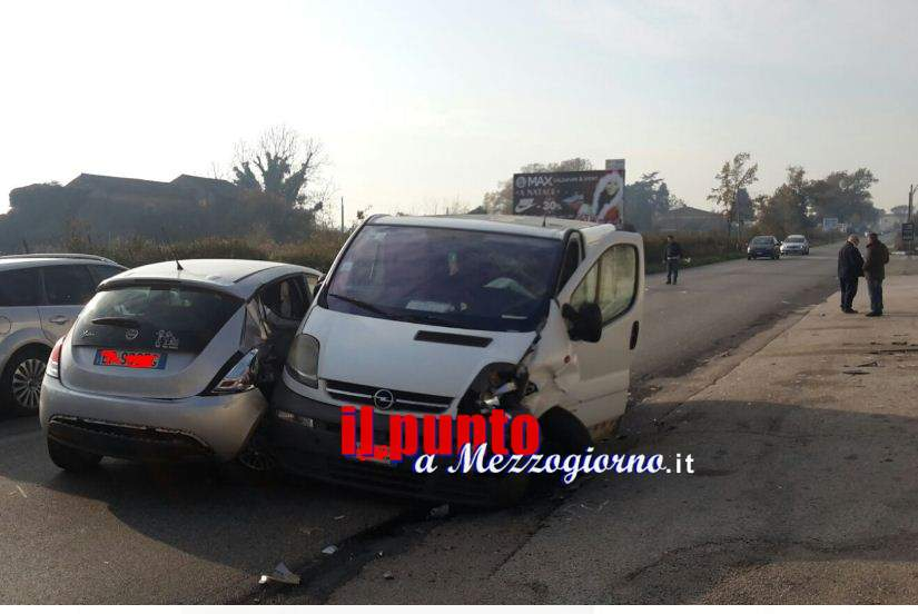 Incidente stradale sulla Casilina a Cassino, due feriti