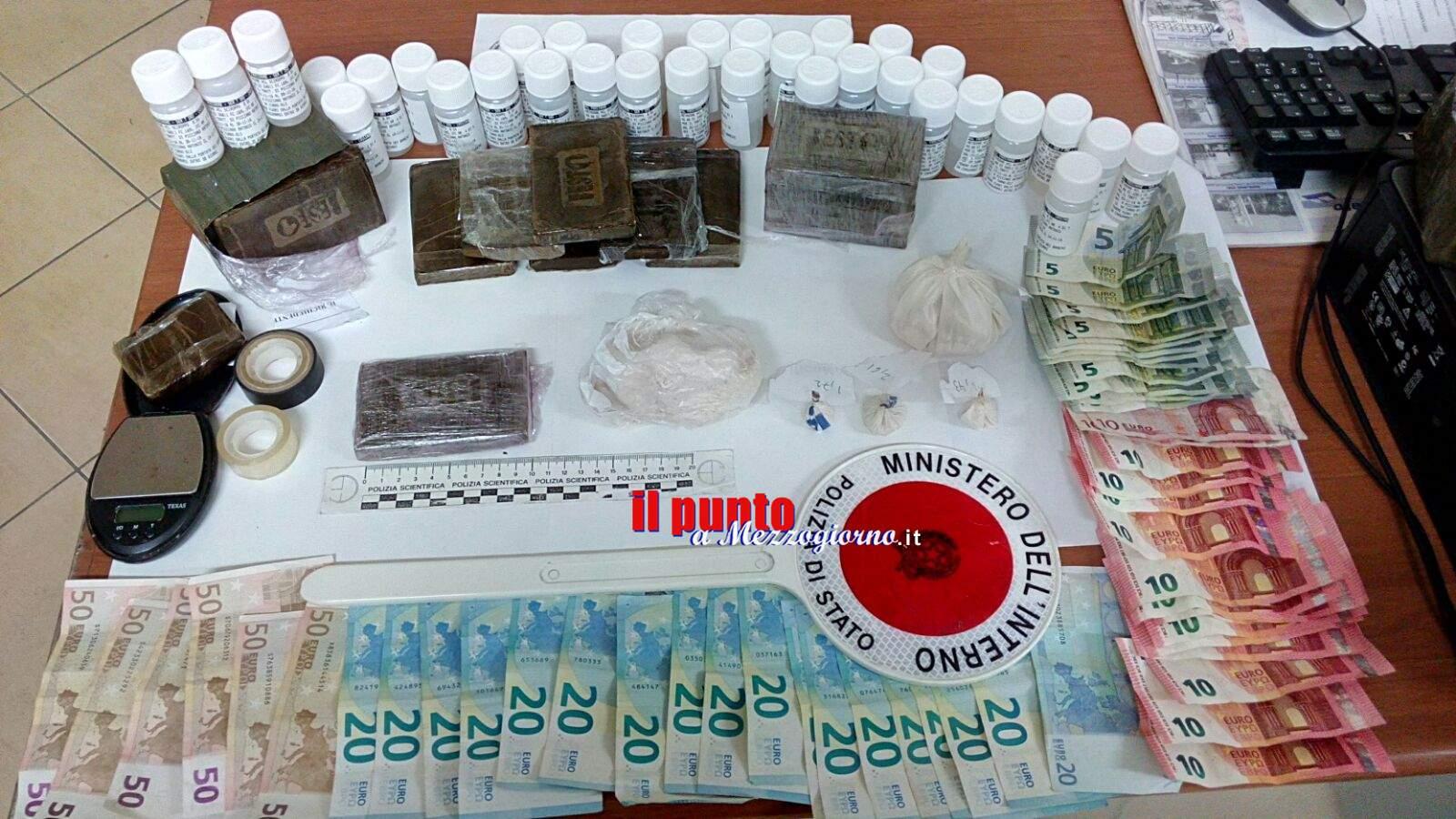 Due chili di droga in casa, arrestato un 48enne a Cassino