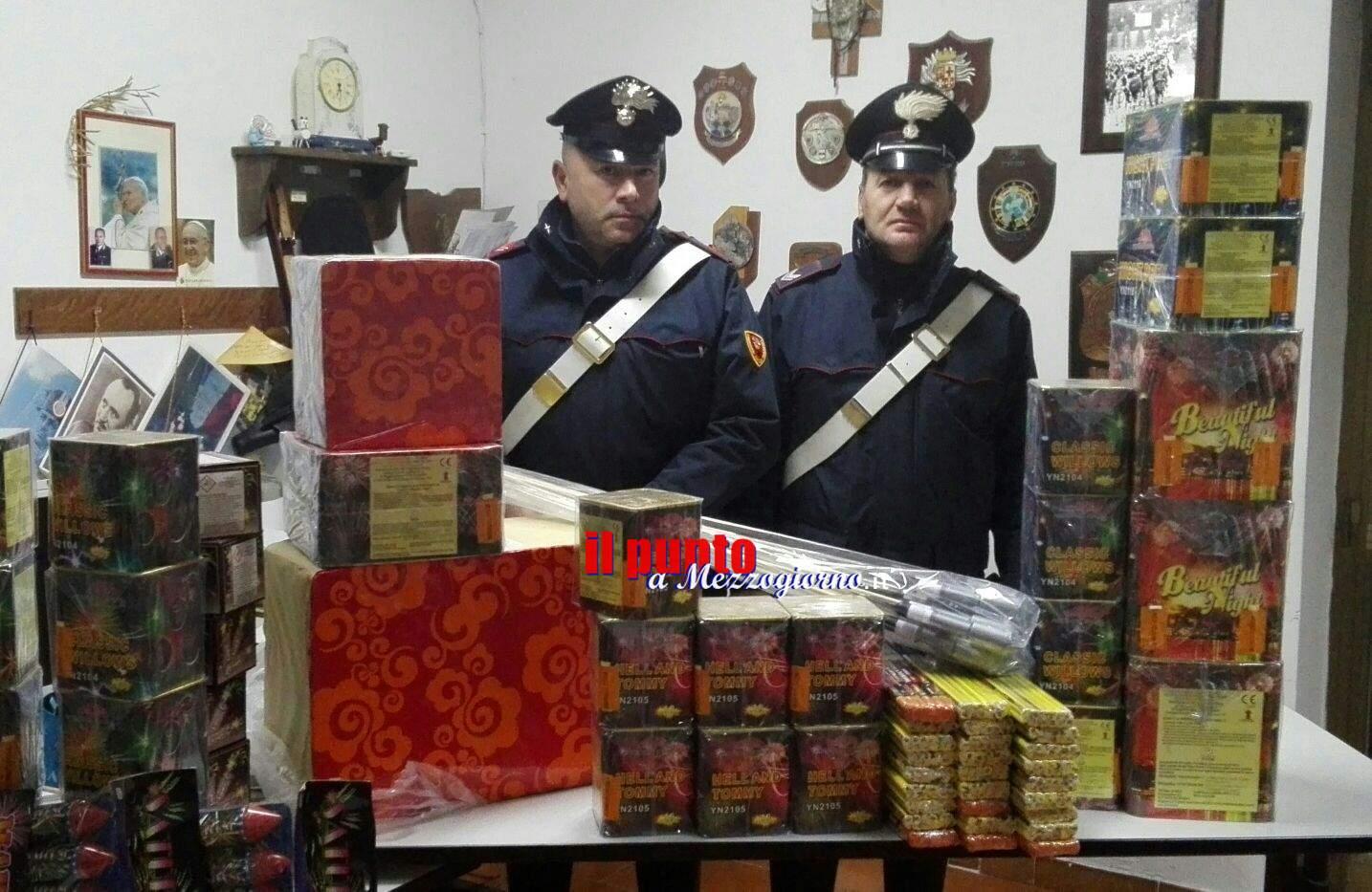 Botti illegali a Cassino, i carabinieri denunciano commerciante