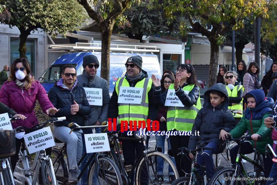 Cassino- Tutti in bici per dire No allo smog