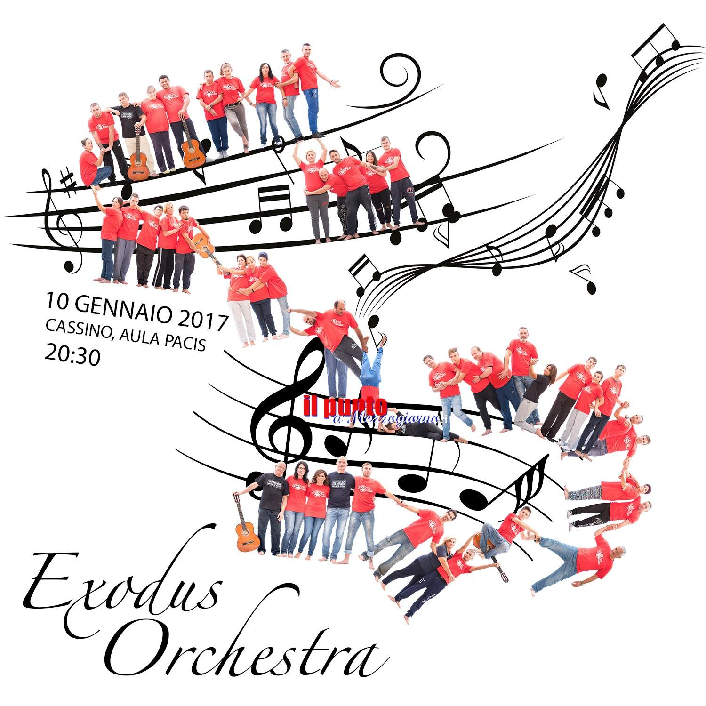 Cassino- Exodus Orchestra,si parte. Debutto attesissimo all'Aula Pacis