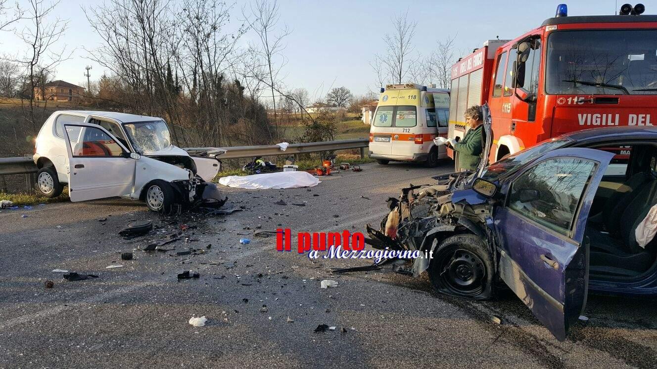 Pignataro Interamna- Tragico scontro sulla Cassino Formia, un morto e due feriti