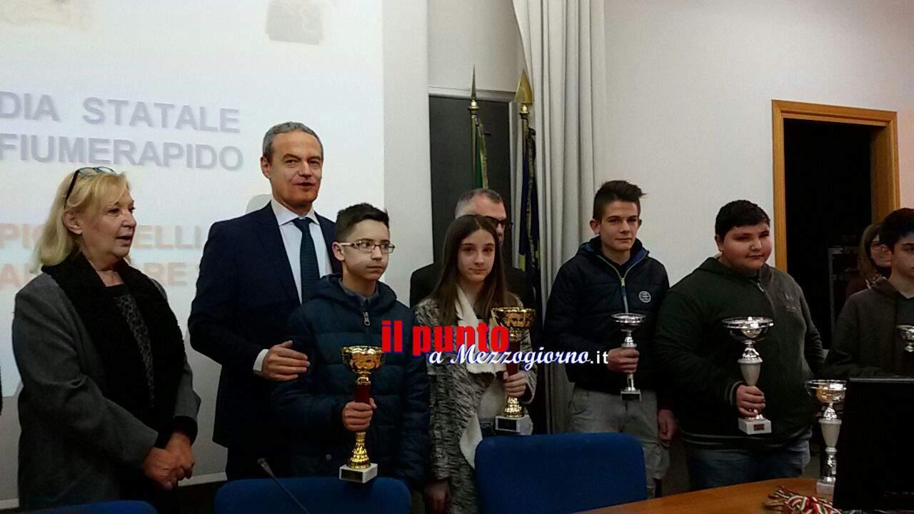 """Cassino-Premiati i vincitori delle gare """"Giochiamo con l'informatica"""" e """" Il piccolo Archimede"""""""