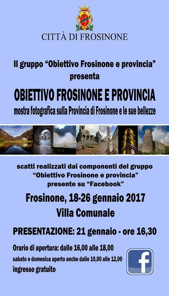 """A Frosinone la mostra fotografica """"Obiettivo Frosinone e provincia"""""""