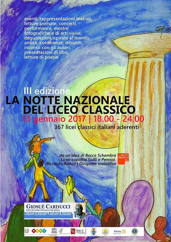 """Cassino – Domani fino alla mezzanotte la terza edizione  de """"La notte nazionale del liceo classico"""""""