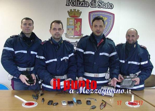 Rubano una Lexus a Roma, banda di ladri fermata a Cassino sull'A1