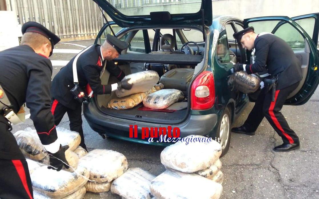 Marijuana d'importazione, i carabinieri ne sequestrano 37 chili