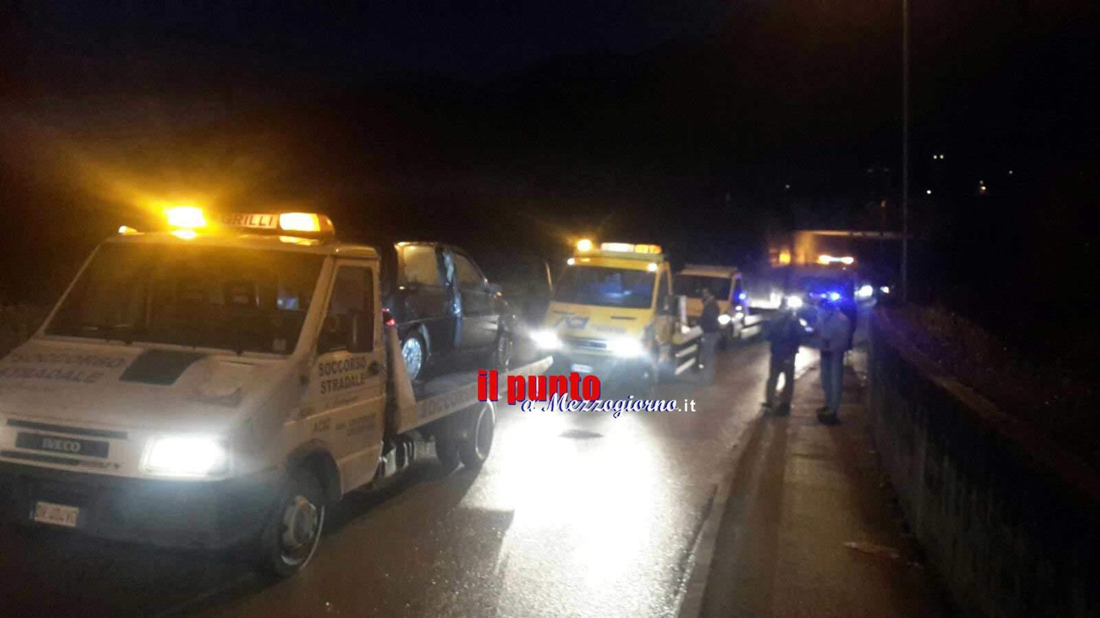 Cassino – Incidente stradale a Solfegna Cantoni, un ferito