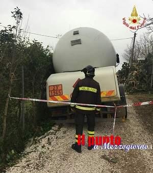 Chiusa, dai Vigili del fuoco, per un travaso di gas  via Grotte di Minturno