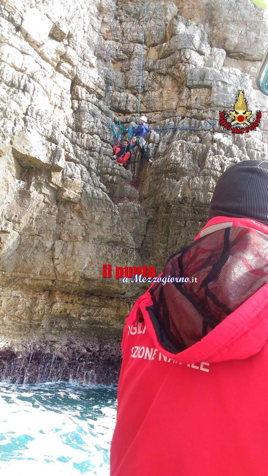 Gaeta – Scalatore soccorso sulle pareti di Monte Orlando