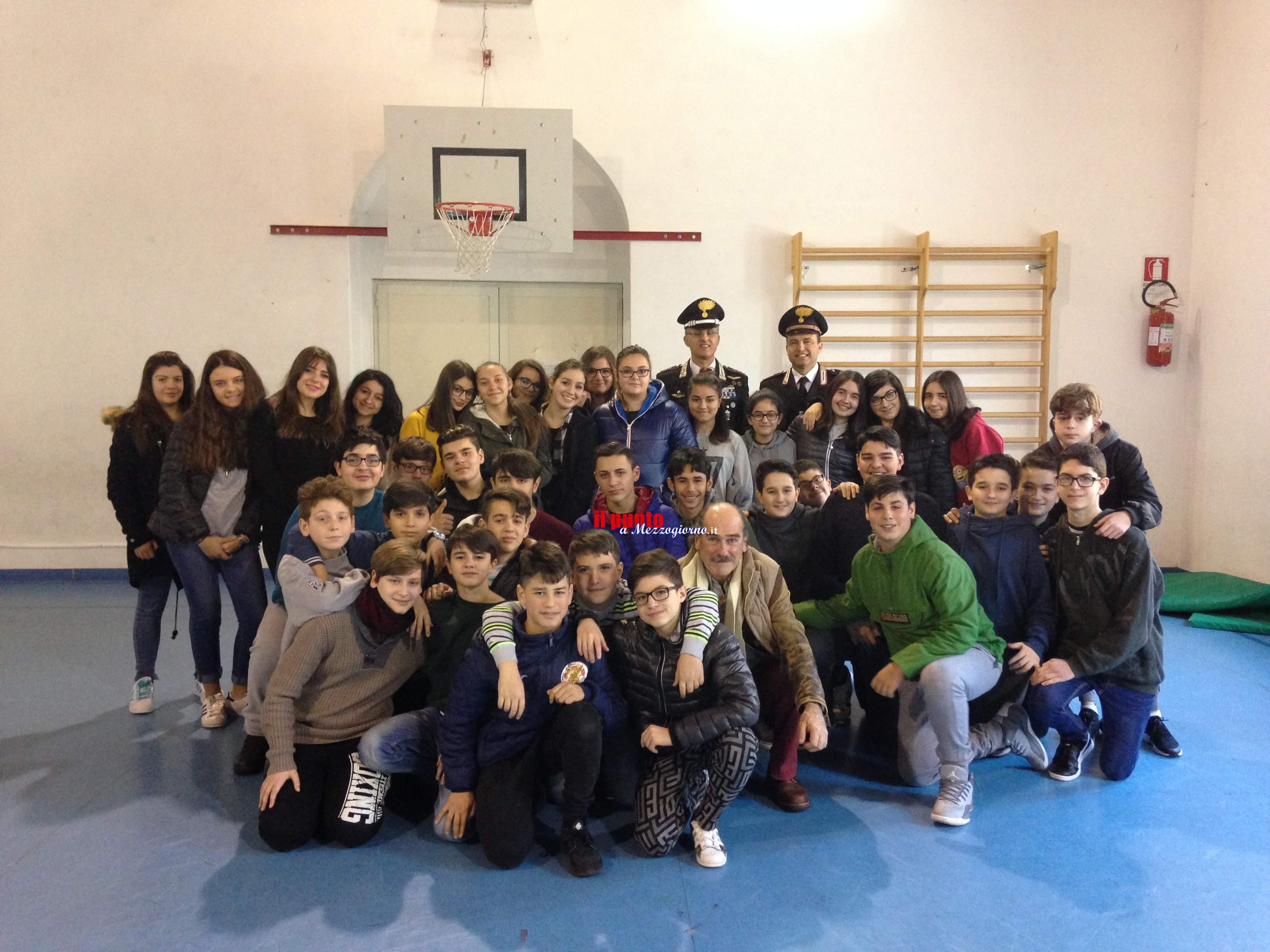 Anagni- Conferenza con gli studenti per parlare di legalità. Iniziativa dell'Arma dei Carabinieri