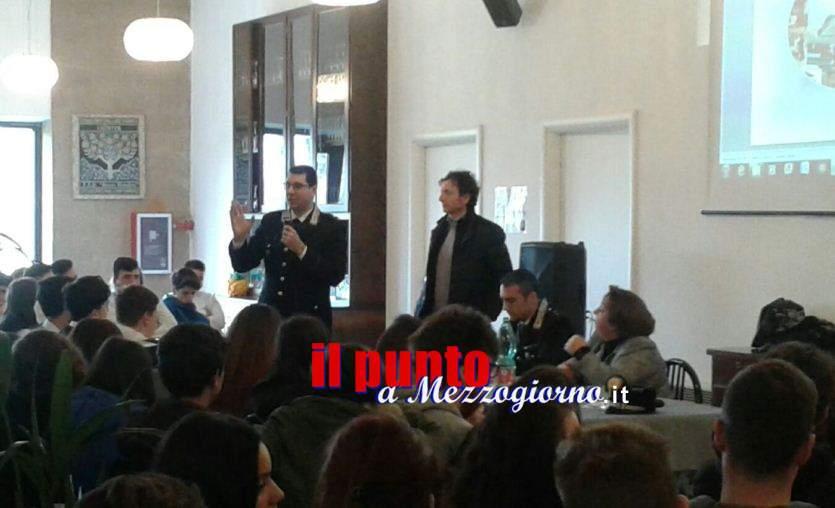 Cyberbullismo e contraffazione alimentare, incontro studenti-carabinieri all'Alberghiero di Cassino