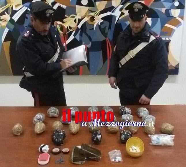 In casa con quattro chili di droga, coppia arrestata ad Aprilia