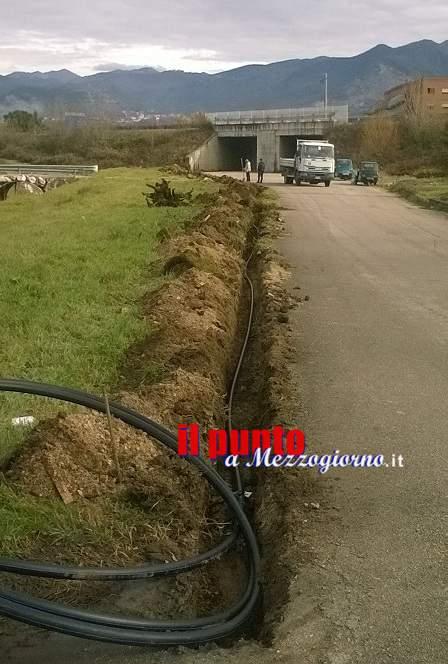 Iniziati i lavori di potenziamento della rete idrica in via Vertelle e Pisciariello