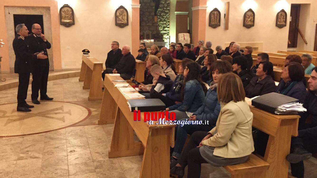 A Caira i Carabinieri incontrano i cittadini. Conferenza nella Chiesa di San Basilio