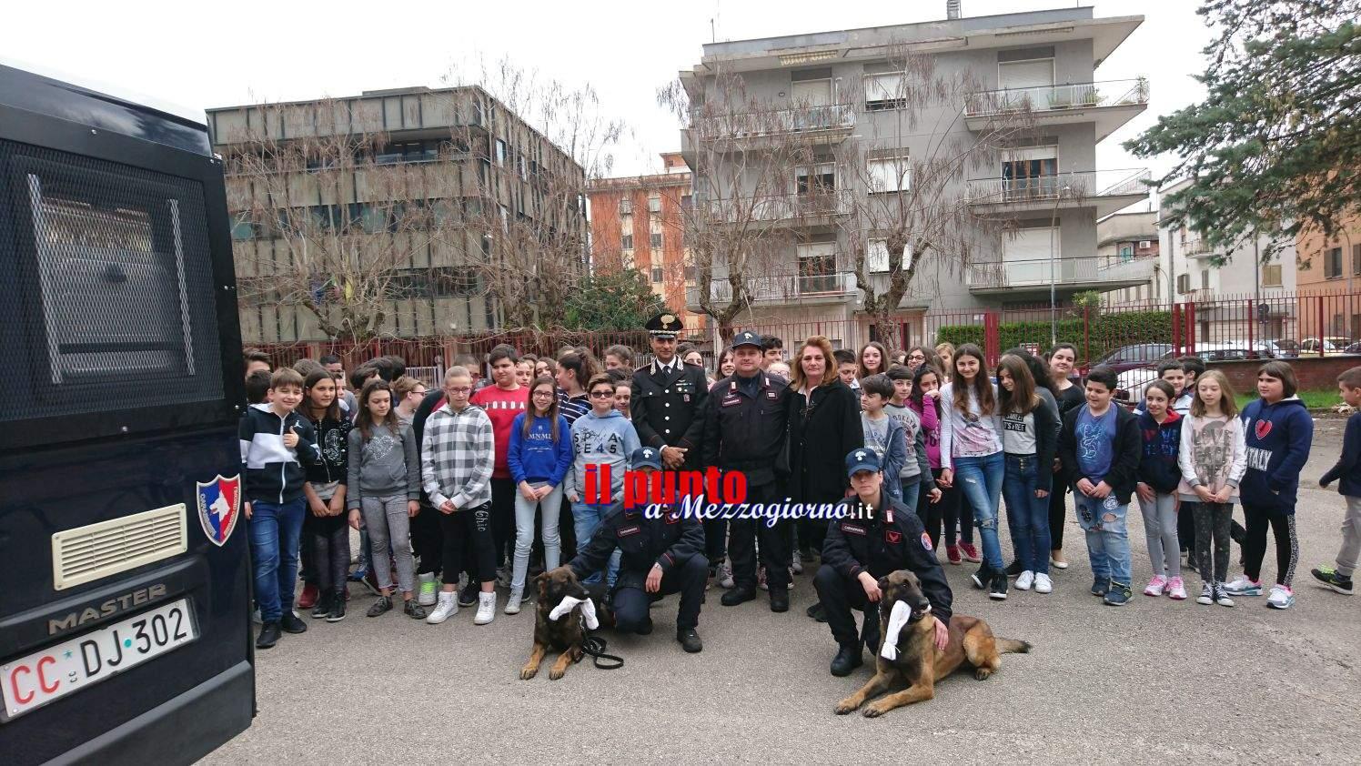 L' Arma dei Carabinieri incontra gli studenti della scuola media Conte di Cassino