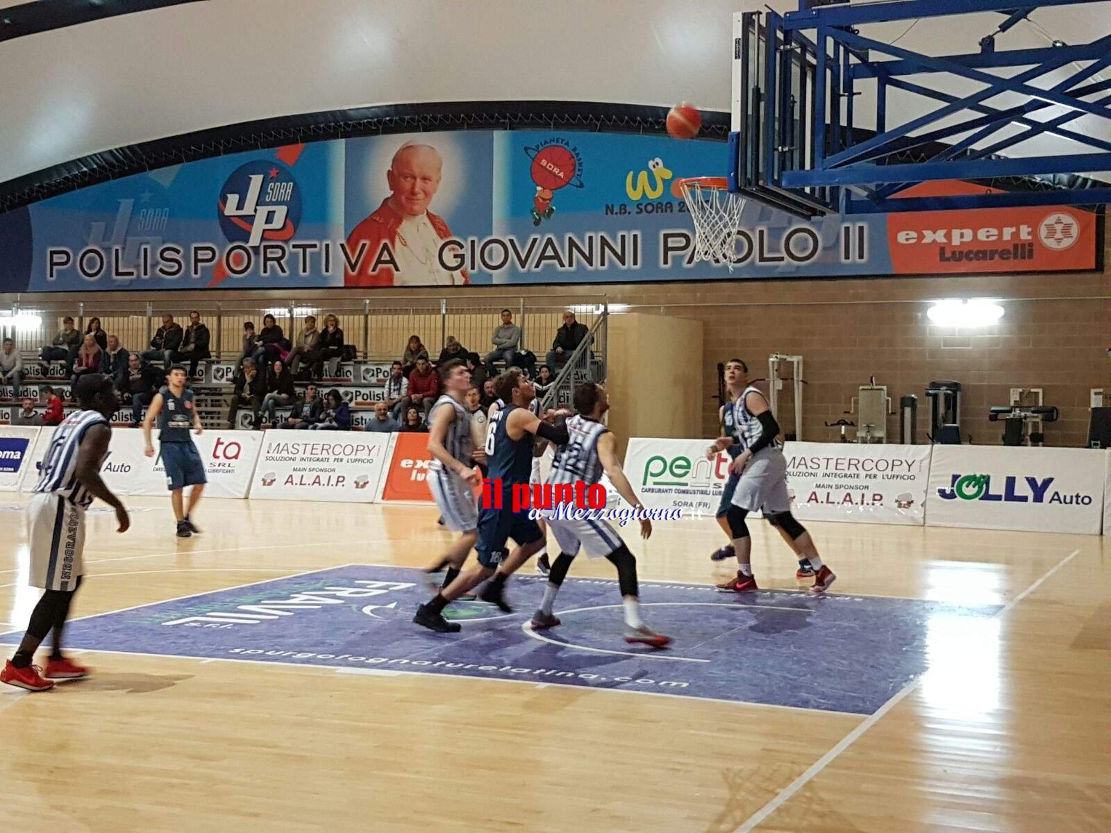 Basket serie C Gold: NB Sora 2000 vince in casa dopo un convulso finale