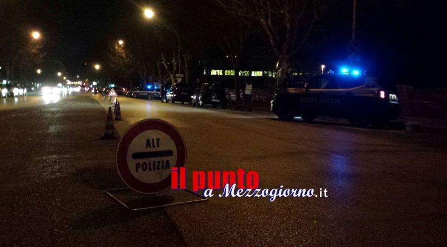 Controlli della polizia a Cassino con drone e mercurio