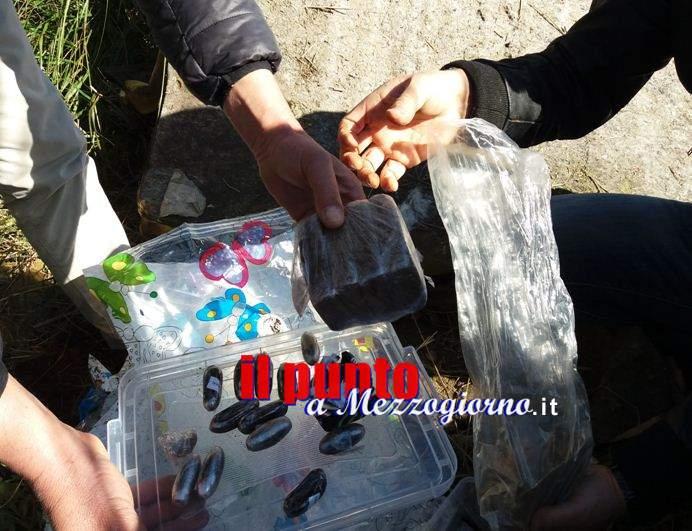Cerca asparagi e  trova un chilo di hashish, droga sequestrata a Gaeta