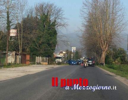 Incidente stradale sulla via Casilina a Cassino, traffico rallentato