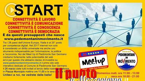"""""""Pedemontani in Movimento"""" inaugurano il primo sito web interattivo per il comune di Piedimonte"""