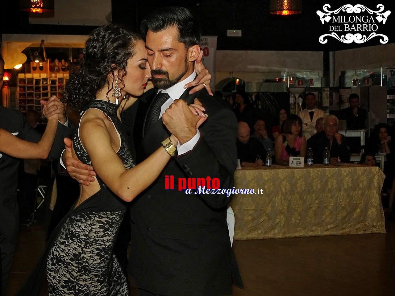 Claudia Del Greco e Andrea Angione di Cassino vincono il campionato metropolitano di Tango argentino