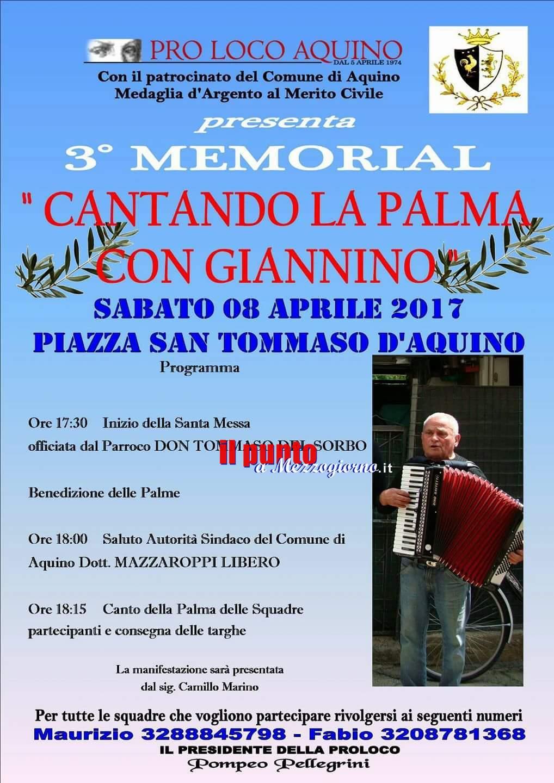 Aquino- 3° memorial Cantando la Palma con Giannino