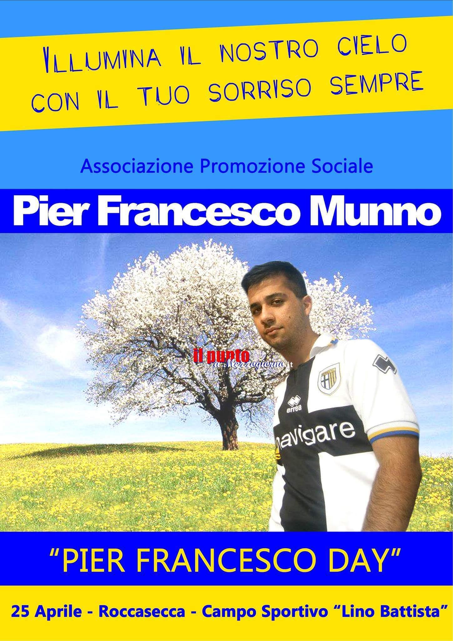 Roccasecca- Pier Francesco Day, insieme per ricordare un giovane amato da tutti