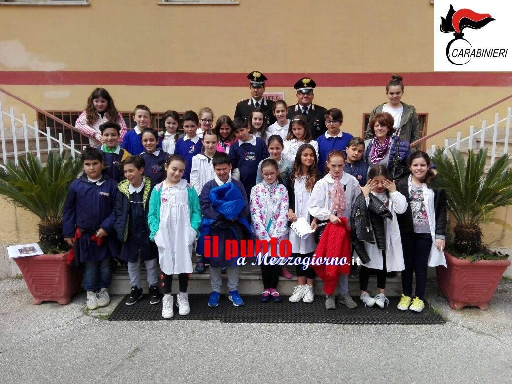 Cassino- Alunni delle scuole primarie di Cervaro e Sant'Elia in visita alla caserma dei carabinieri