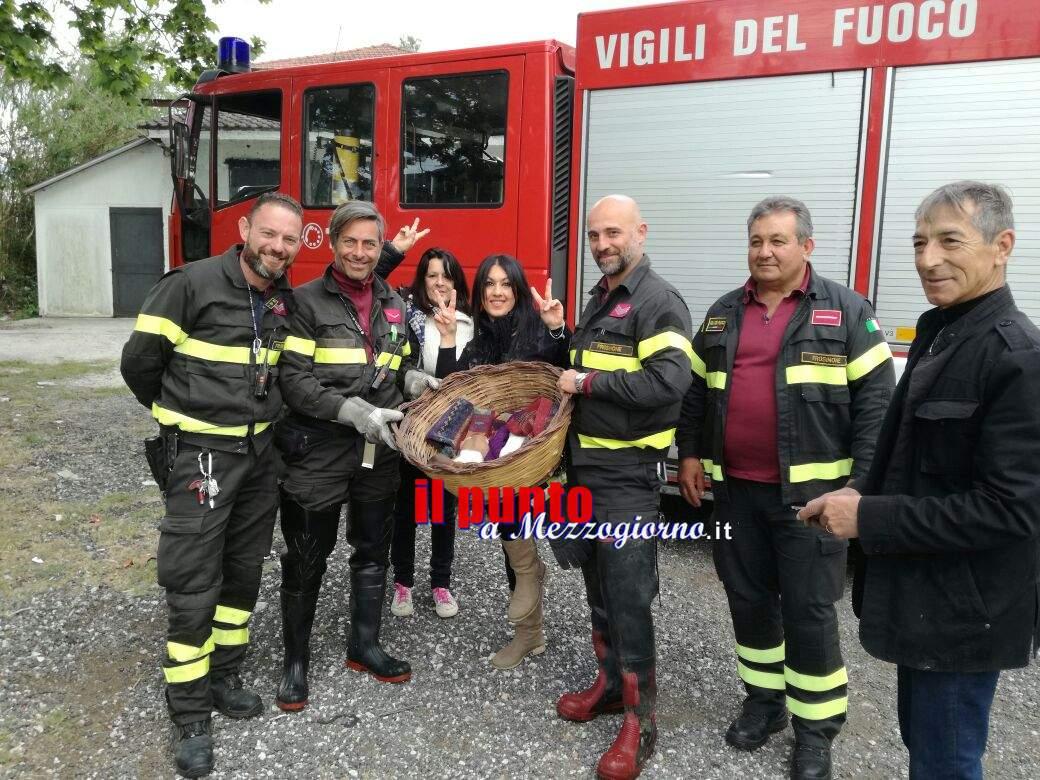 Cassino- Vigili del Fuoco portano in salvo cagnolini