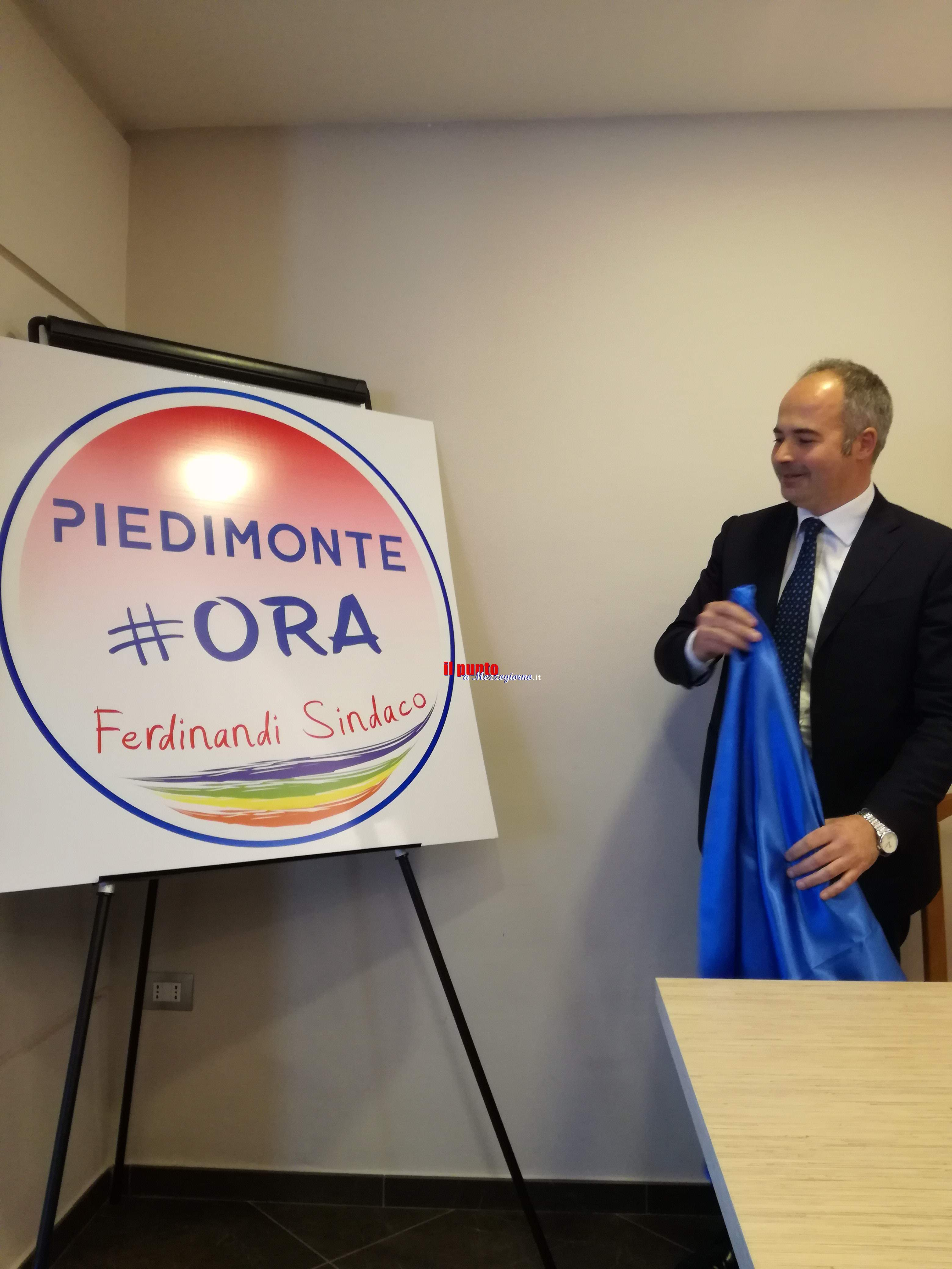 Amministrative Piedimonte- Ferdinandi presenta il logo