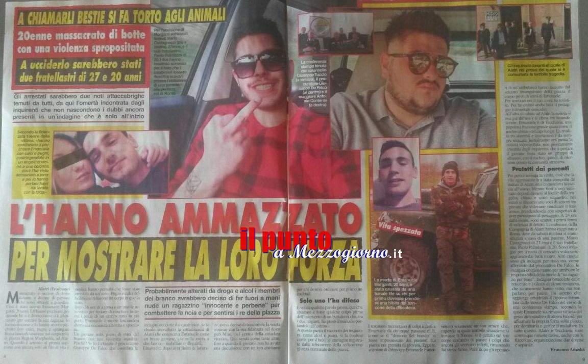 Omicidio di Alatri, l'assassinio di Emanuele sulle pagine di Cronaca Vera