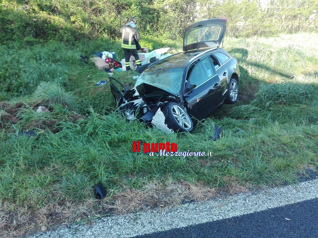 Incidente stradale sull'autostrada A1 tra Ceprano e Pontecorvo, un morto