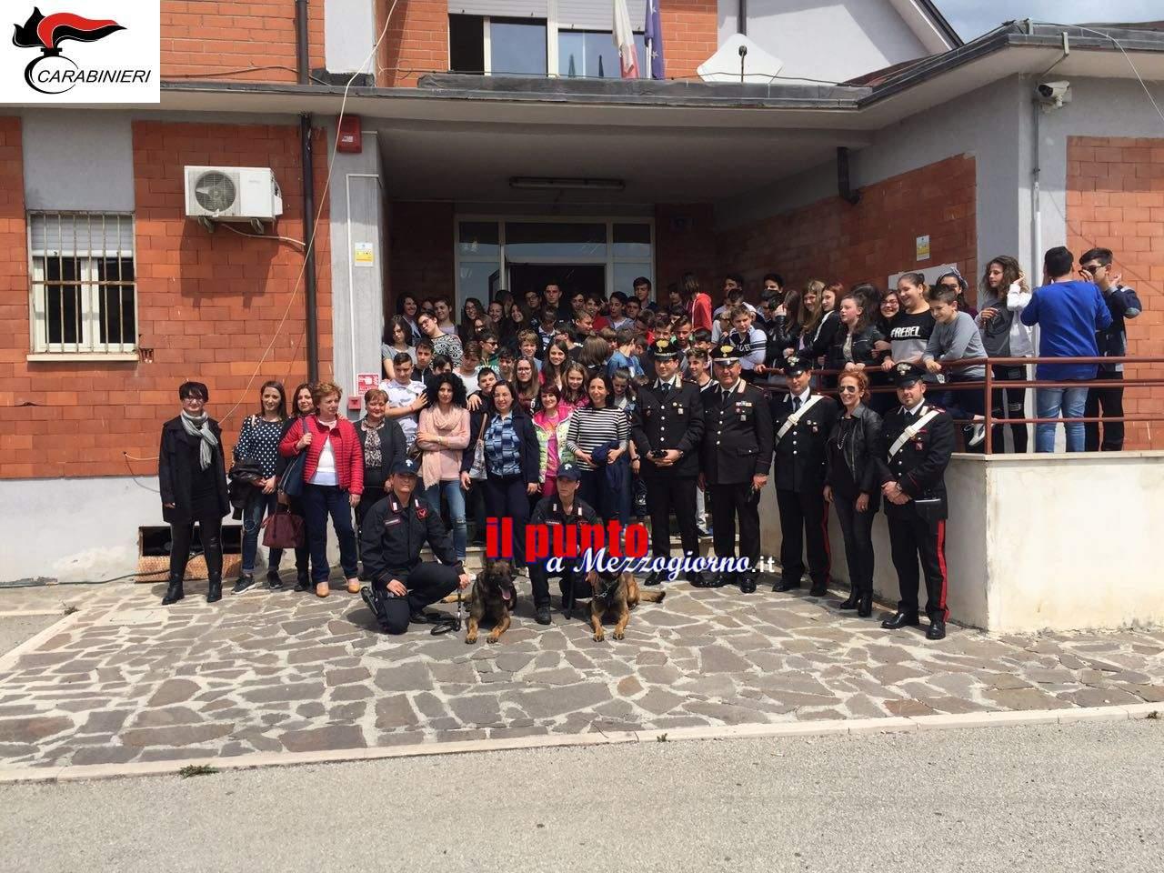 Piedimonte S.Germano- I carabinieri incontrano gli studenti dell'Istituto Don Minzoni