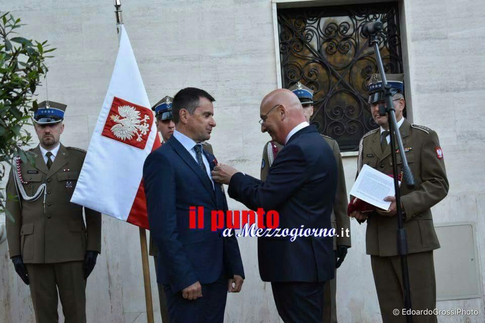 """Albaneta, """"Petrarcone amico dei polacchi"""": alta onoreficenza all'ex sindaco di Cassino"""