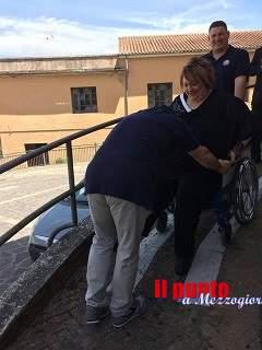 Difficile entrare in chiesa e fare la madrina di cresima a Sant'Apollinare se sei disabile