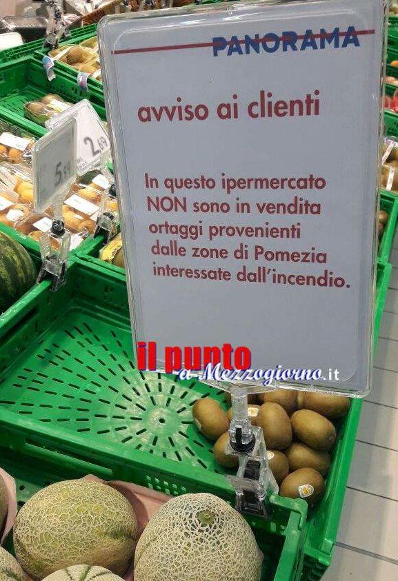 """Pomezia come marchio nero, nei supermercati:  """"Qui non vendiamo ortaggi di Pomezia"""""""