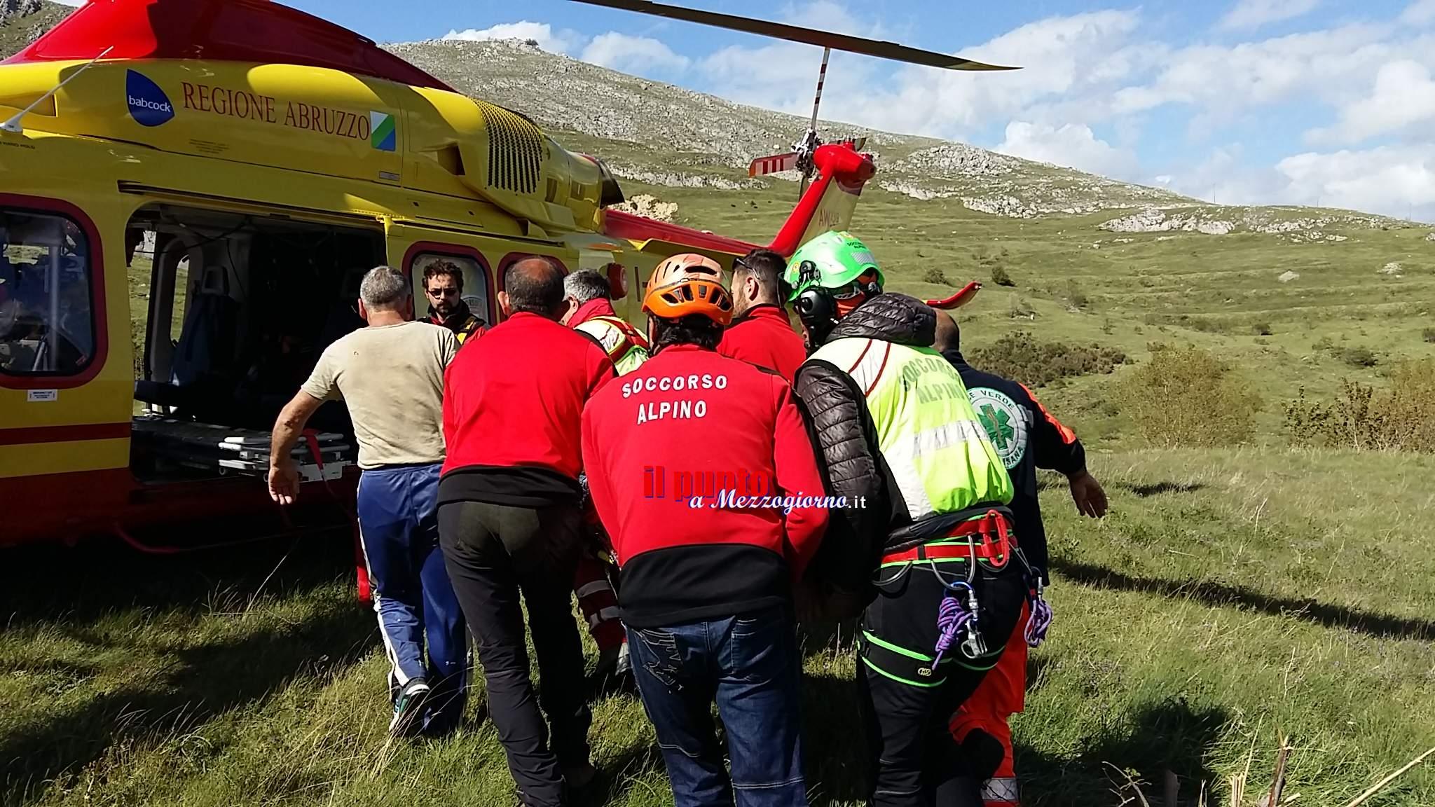 Ponza – anziano si infortuna su terrazzamento agricolo, recuperato in elicottero dal Soccorso Alpino